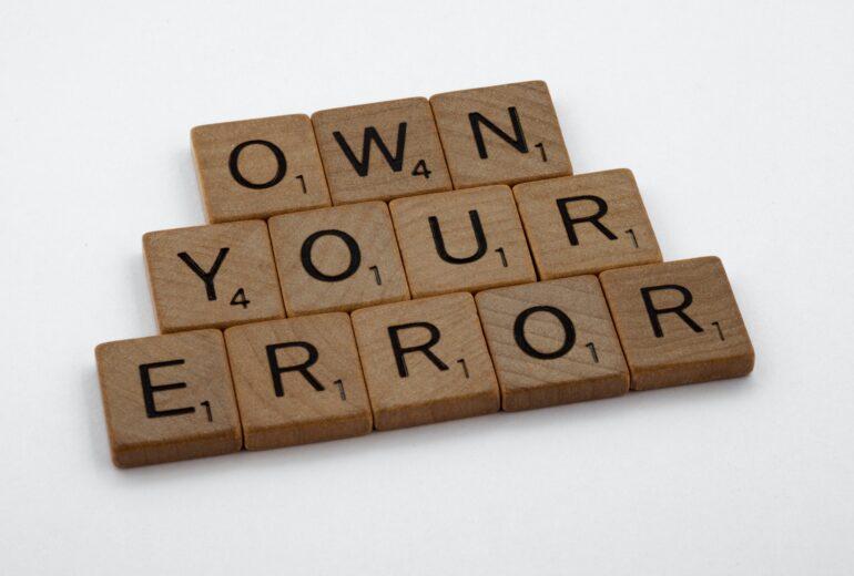 récupérer de son erreur - comprendre son erreur