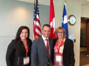 Nos associées Isabelle Lemieux CPA, CAet Chantal Couture, CPA, CAont rencontré le Ministre Stéphane…